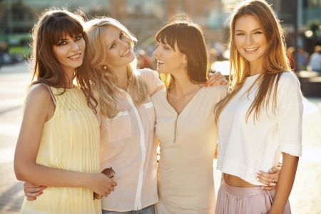Four fantastic ladies during summer afternoon