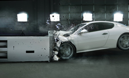 Art picture of crashed car photo