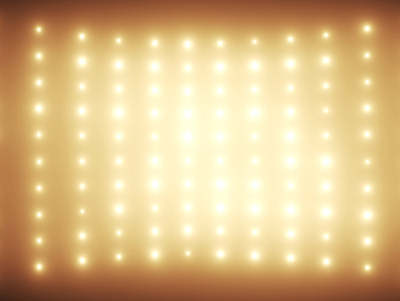 side of light: Hundreds glimmers in orange tone Stock Photo