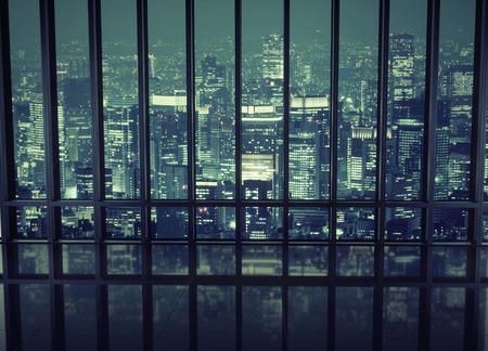 夜の街の眺め
