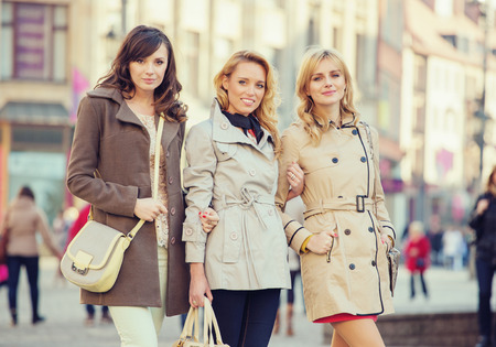 Three attractive women during spring day Stock Photo - 26865084
