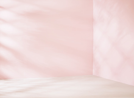 dirty room: Small empty place in pink tone