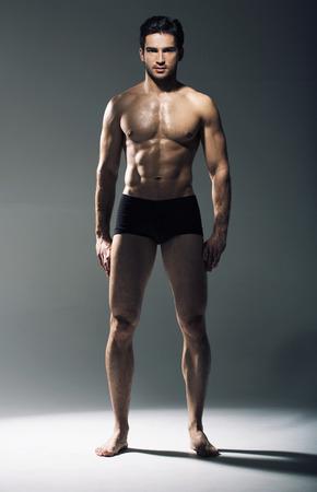 筋肉のハンサムな男の肖像 写真素材