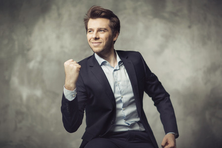 Attractive young businessman starting his career photo