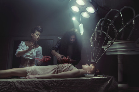 injection woman: Crazy experiments in the old haunted hospital