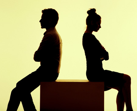 relationship: Picture of the people having break in the argument