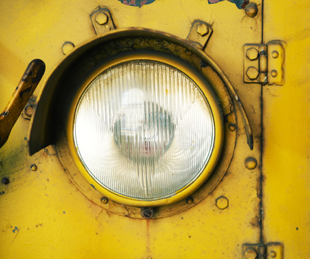 headlamp: Picture presenting the car headlamp Stock Photo
