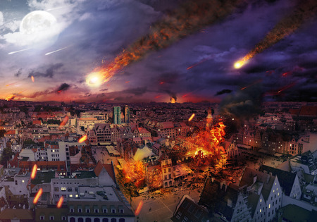 Apocalypse caused by a giant meteorite photo
