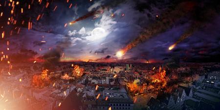 wojenne: Koncepcyjne fotografii przerażające apokalipsy Zdjęcie Seryjne