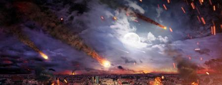 Fantasty foto van de apocalyps Stockfoto