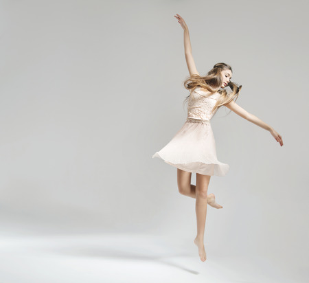 Beautiful and young ballet dancer photo
