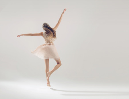 Beautiful talented athlete in ballet dance
