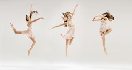 danza: Imagen múltiple de la joven bailarina de ballet