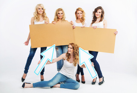 group picture: Picture of group cheerful women Stock Photo