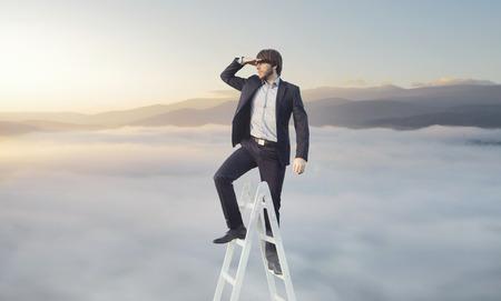 Ambitieuze zakenman op zoek naar zijn doel