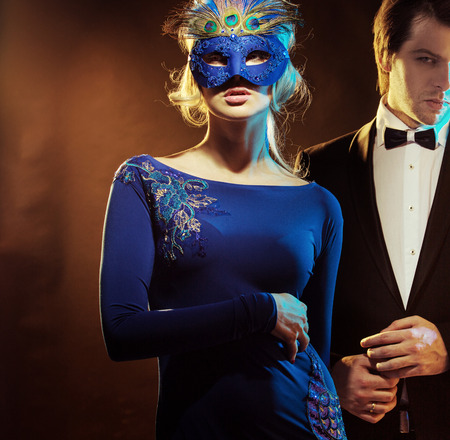 masked: Handsome guy with his lovely wife