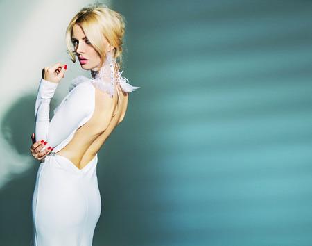 Portrait of the blond sexy lady 版權商用圖片