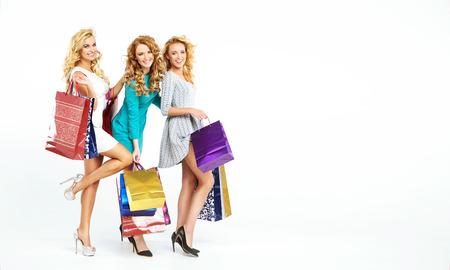 Three fabulous women enjoying season sales photo