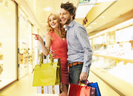 shopaholics: Young people on the saturday shopping