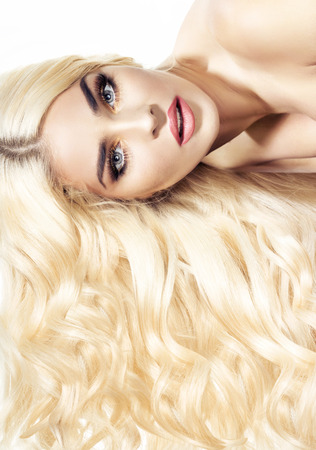alluring: Glamour portrait of an alluring woman