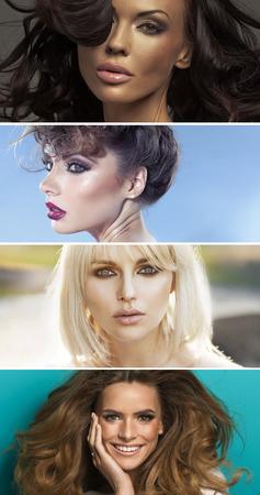 Multiple portrait of four sensual ladies photo