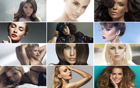 Immagine multipla delle donne bellissime Archivio Fotografico