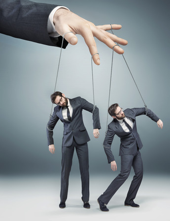controlled: Conceptual picture of controlled employees