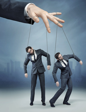 impotent: Conceptual photo of the human marionette