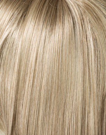 blond streaks: Picture of long, straight blond haircut
