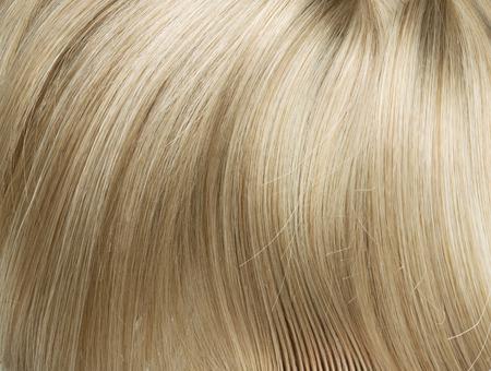 blond streaks: Closeup photo of straight, long blond hair Stock Photo