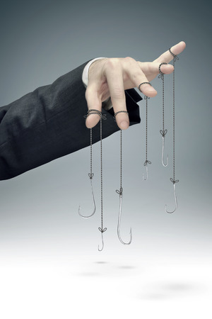 office slave: conceptual picture of the corporate manipulation Stock Photo