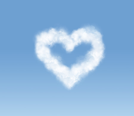 Heart-shaped cloudlet in the sky photo