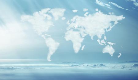世界的な形で密な雲の概念図 写真素材