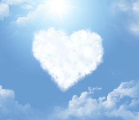Cloud in a shape of a heart photo