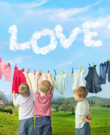 sully: Cute brothers making a laundry together