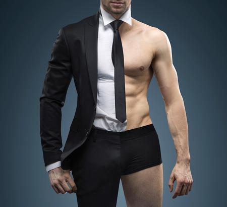 hombre fuerte: Imagen conceptual del gestor de ajuste musculares