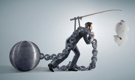 conceptual photo presenting abitious manager Banque d'images
