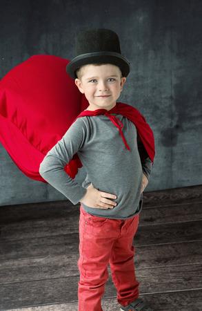 Portrait of a proud little wizard