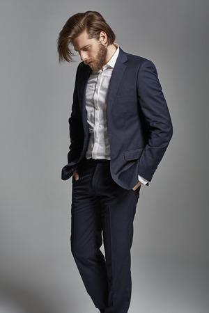 Portrait of the young handsome stylish businessman Zdjęcie Seryjne