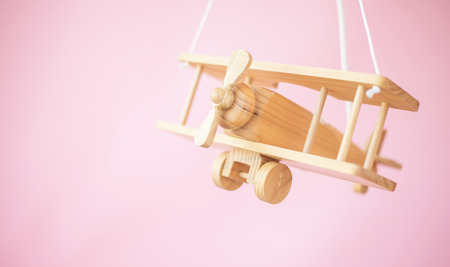 for: Picture of the nice wooden toy plane Stock Photo