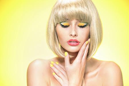 cutie: Glamour style portrait of a blond cutie Stock Photo