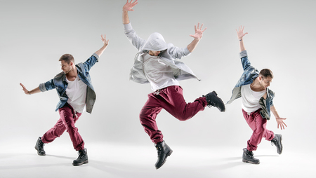 Portret utalentowanego człowieka tańczącego