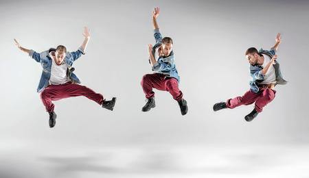 Portrait of a multiple dancing hip hop guy