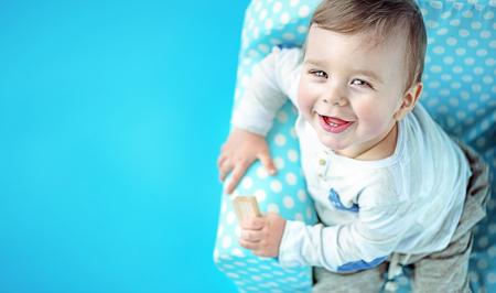 litle: Closeup portrait of a very cute litle boy Stock Photo