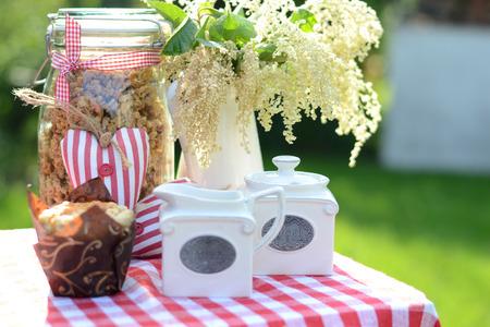 cake pick: Healthy breakfast in the fresh summer garden