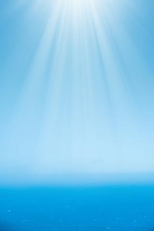 Luchtfoto van de rustige oceaan