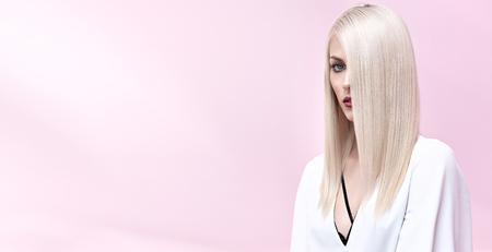 Portrait of an elegant young, blond woman 写真素材