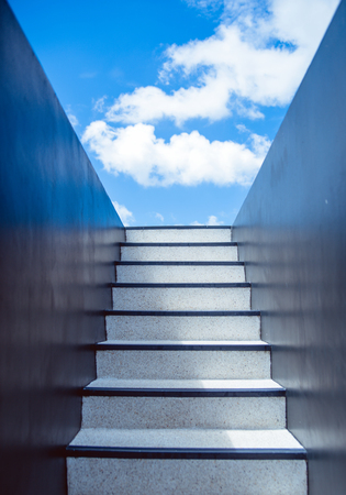 Stairway leading up to the sky Stock fotó