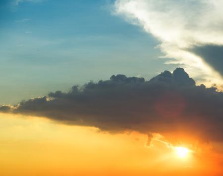 Sfondo naturale del cielo blu con nuvole Archivio Fotografico