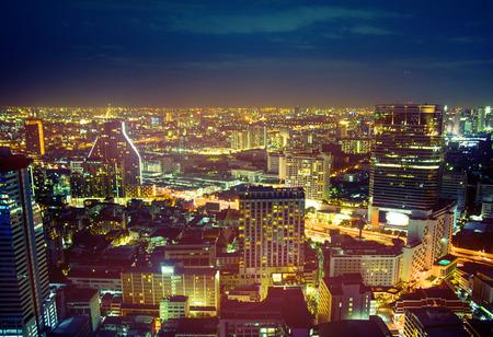 Bellissimo paesaggio urbano di una città moderna asiatica
